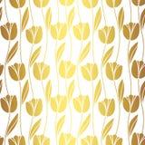 Abstrakcjonistyczny bezszwowy retro wzór z sylwetkami tulipany tła tła projektu karty kwiecista ilustracja Zdjęcie Stock