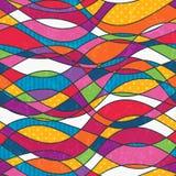 Abstrakcjonistyczny bezszwowy tło z fala. Obrazy Royalty Free