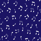Abstrakcjonistyczny bezszwowy tło z muzycznymi znakami Zdjęcia Royalty Free