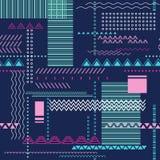 Abstrakcjonistyczny bezszwowy techno wzór ilustracji