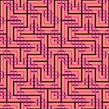 Abstrakcjonistyczny bezszwowy wektoru wzór przecinać kwadratowych ornamenty Obraz Stock
