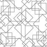 Abstrakcjonistyczny bezszwowy wzór, minimalny geometryczny tło Powtarzalna tekstura ilustracja wektor