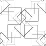 Abstrakcjonistyczny bezszwowy wzór, minimalny geometryczny tło Powtarzalna tekstura royalty ilustracja