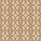 Abstrakcjonistyczny bezszwowy wzór Brown paleta Fotografia Royalty Free