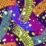 Abstrakcjonistyczny bezszwowy wzór dla dziewczyn, chłopiec, odziewa Kreatywnie tło z śladami opony Śmieszna tapeta dla tkaniny ilustracja wektor