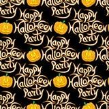 Abstrakcjonistyczny bezszwowy wzór dla Halloween Zdjęcie Stock