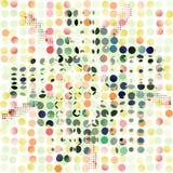 Abstrakcjonistyczny bezszwowy wzór jaskrawe barwione kropki Zdjęcia Royalty Free
