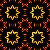 Abstrakcjonistyczny bezszwowy wzór, ogniste gwiazdy Obraz Royalty Free