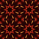 Abstrakcjonistyczny bezszwowy wzór, ogniste gwiazdy Fotografia Royalty Free