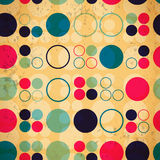 Abstrakcjonistyczny bezszwowy wzór okręgi ilustracja wektor