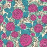 Abstrakcjonistyczny bezszwowy wzór róże Obrazy Stock