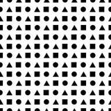 Abstrakcjonistyczny bezszwowy wzór robić geometryczni kształty Zdjęcia Stock