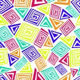 Abstrakcjonistyczny bezszwowy wzór robić kolorowi elementy Zdjęcia Royalty Free