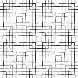 Abstrakcjonistyczny bezszwowy wzór robić z atramentem Zdjęcia Stock