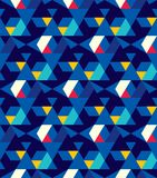 Abstrakcjonistyczny bezszwowy wzór trójboki Ruch geometryczne formy royalty ilustracja