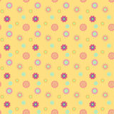 Abstrakcjonistyczny bezszwowy wzór z barwionymi kwiatami Papierowych kwiatów półdupki Zdjęcia Royalty Free