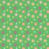 Abstrakcjonistyczny bezszwowy wzór z barwionymi kwiatami Papierowych kwiatów półdupki Zdjęcie Royalty Free