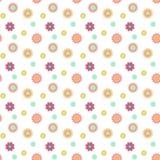Abstrakcjonistyczny bezszwowy wzór z barwionymi kwiatami Papierowych kwiatów półdupki Zdjęcie Stock