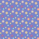 Abstrakcjonistyczny bezszwowy wzór z barwionymi kwiatami Papierowych kwiatów półdupki Fotografia Stock