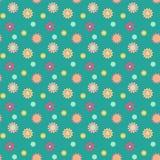 Abstrakcjonistyczny bezszwowy wzór z barwionymi kwiatami Papierowych kwiatów półdupki Obraz Stock