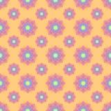 Abstrakcjonistyczny bezszwowy wzór z barwionymi kwiatami Papierowych kwiatów półdupki Obraz Royalty Free