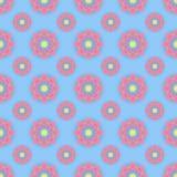 Abstrakcjonistyczny bezszwowy wzór z barwionymi kwiatami Papierowych kwiatów półdupki Fotografia Royalty Free