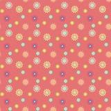 Abstrakcjonistyczny bezszwowy wzór z barwionymi kwiatami Papierowych kwiatów półdupki Obrazy Stock