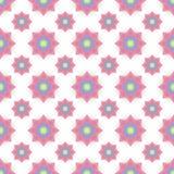 Abstrakcjonistyczny bezszwowy wzór z barwionymi kwiatami Papierowych kwiatów półdupki Zdjęcia Stock