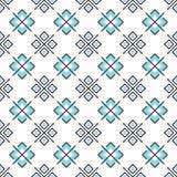 Abstrakcjonistyczny bezszwowy wzór z geometrycznymi elementami Zdjęcia Royalty Free