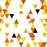 Abstrakcjonistyczny bezszwowy wzór z kolorowymi trójbokami i stylizowaną cukierek kukurudzą Wektorowy tło Obraz Stock