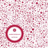 Abstrakcjonistyczny Bezszwowy wzór z kwiecistą tło czerwienią, bielem i Zdjęcie Royalty Free