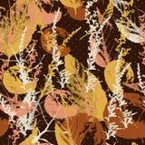 Abstrakcjonistyczny bezszwowy wzór z liśćmi Fotografia Royalty Free