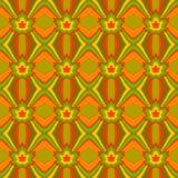 Abstrakcjonistyczny bezszwowy wzór z liśćmi klonowymi w jesieni barwi Obraz Royalty Free