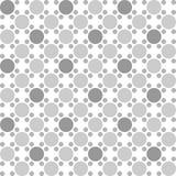 Abstrakcjonistyczny bezszwowy wzór z okręgami na białym tle Obraz Royalty Free