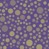 Abstrakcjonistyczny bezszwowy wzór z okręgami Zdjęcie Royalty Free