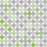 Abstrakcjonistyczny bezszwowy wzór z popielatymi i zielonymi kropkami na białym tle Zdjęcia Royalty Free