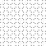 Abstrakcjonistyczny bezszwowy wzór z popielatymi kropkami na białym tle Obraz Royalty Free