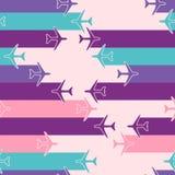 Abstrakcjonistyczny bezszwowy wzór z samolotami Zdjęcie Stock