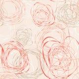 Abstrakcjonistyczny bezszwowy wzór z skrobaninami ilustracja wektor
