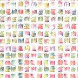 Abstrakcjonistyczny Bezszwowy wzór z Stubarwnymi Pastelowymi ołówków uderzeniami royalty ilustracja