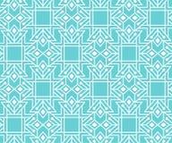 Abstrakcjonistyczny bezszwowy wzór z zarysowanym geometrycznym ornamentem Fotografia Stock