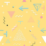 Abstrakcjonistyczny bezszwowy wzorów 80 ` - 90 ` s stylów Modny Memphis styl ilustracja wektor