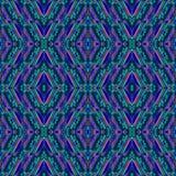 Abstrakcjonistyczny bezszwowy wzór z lampasami i szkłem opuszcza w geometrycznych formach Mozaiki tło Współczesny ornament Zdjęcie Stock