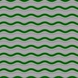 Abstrakcjonistyczny bezszwowy z zielonymi fala Zdjęcie Royalty Free