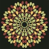 Abstrakcjonistyczny bezszwowy zmroku wzór z abstrakcjonistycznymi kwiatami Zdjęcie Royalty Free