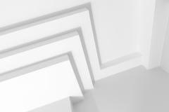 Abstrakcjonistyczny biały architektury tło Obraz Royalty Free