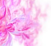 Abstrakcjonistyczny biały fractal tło Menchie i purpurowy kwiecisty tupoczą Zdjęcia Royalty Free