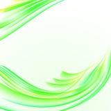 Abstrakcjonistyczny biały tło z żółtą zielenią paskował fala textur ilustracji
