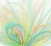 Abstrakcjonistyczny biały tło z lekką tęczą - zieleń, turkus, royalty ilustracja