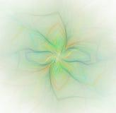 Abstrakcjonistyczny biały tło z tęczą lub zielonego koloru kwiatem ilustracji